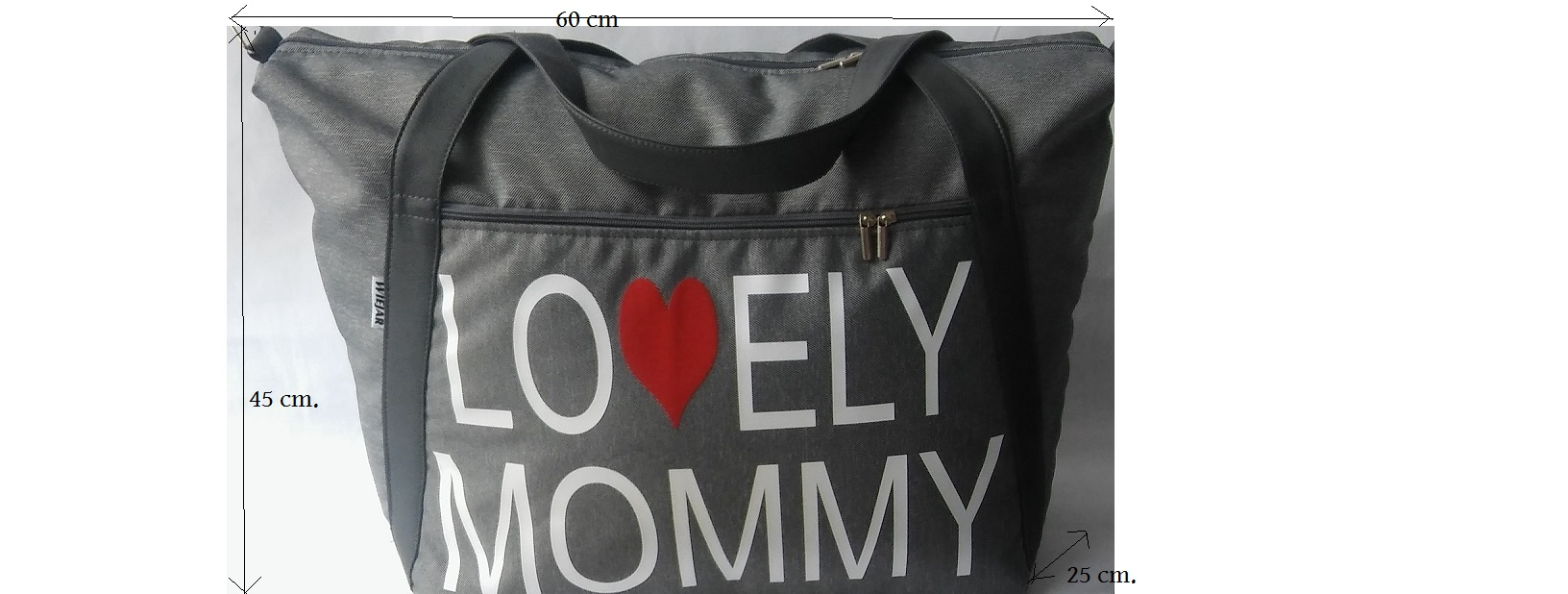 Torba Lovely mommy - siva