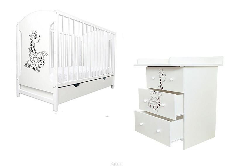 MIKI krevetić + komoda